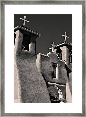 Towers In Sepia Framed Print by Charles Muhle