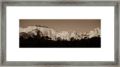 Towers Of The Virgin Framed Print by Adam Romanowicz