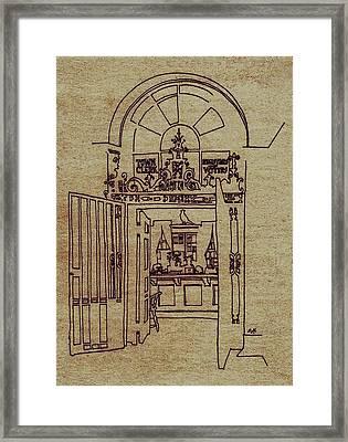 Town Clerk Framed Print by Dale Michels