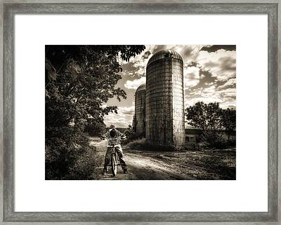 Town Line Framed Print by Bob Orsillo