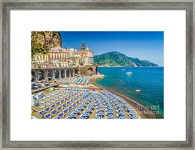 Town Of Atrani Framed Print by JR Photography