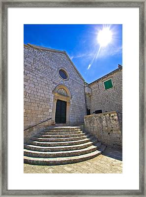 Town Of Hvar Old Franciscan Monastery Framed Print by Dalibor Brlek