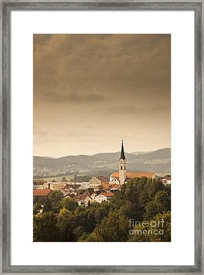 Town Of Schonberg Lower Bavaria Germany Europe Framed Print by Jon Boyes