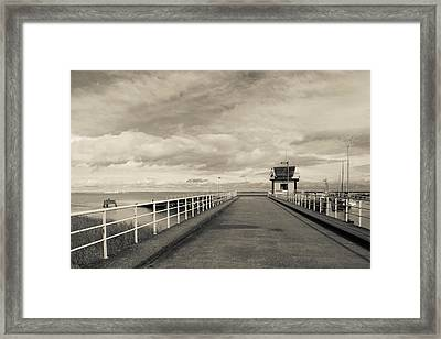 Town Pier On The Gironde River Framed Print by Panoramic Images