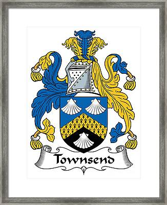 Townsend Coat Of Arms Irish Framed Print by Heraldry