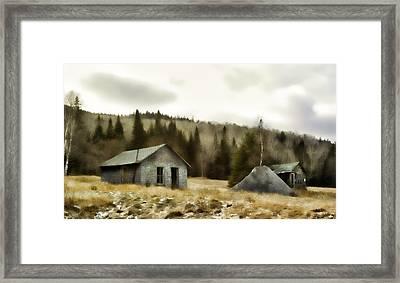 Township Remnants Framed Print by Richard Bean