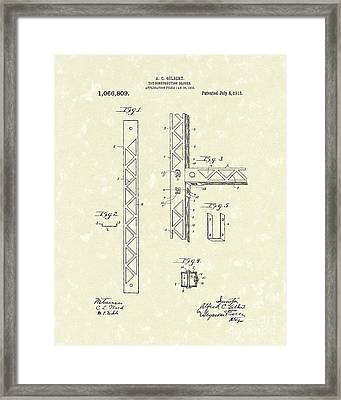 Toy Blocks 1913 Patent Art Framed Print by Prior Art Design
