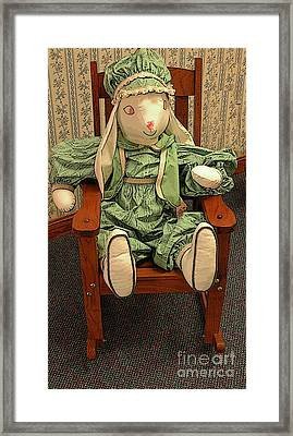 Toy Bunny In Rocker Framed Print by Kathleen Struckle