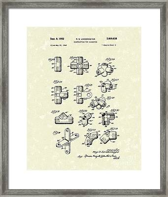 Toy Connector 1952 Patent Art Framed Print by Prior Art Design