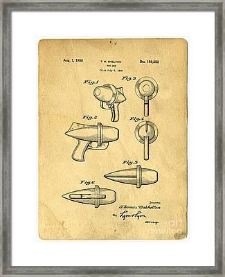 Toy Ray Gun Patent Framed Print by Edward Fielding