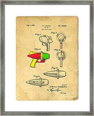 Toy Ray Gun Patent II Framed Print by Edward Fielding