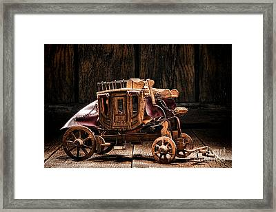 Toy Stagecoach Framed Print by Olivier Le Queinec
