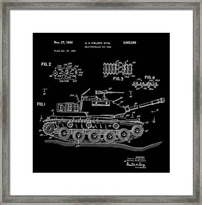 Toy Tank Framed Print by Dan Sproul