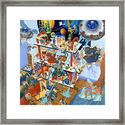 Toying Around Framed Print by Victor Powell
