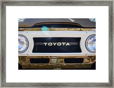 Toyota Land Cruiser Grille Emblem  Framed Print by Jill Reger