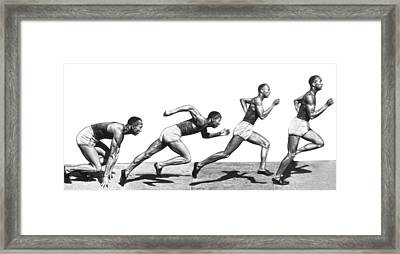 Track Star Jesse Owens Framed Print by Underwood Archives