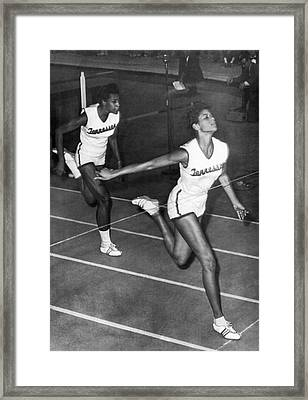 Track Star Wilma Rudolph Framed Print by Underwood Archives