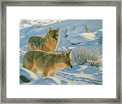 Trackers Framed Print by Paul Krapf