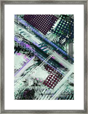 Tracking Code Framed Print by Keith Mills