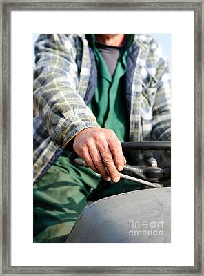 Tractor Driver. Framed Print by Ian  Francis