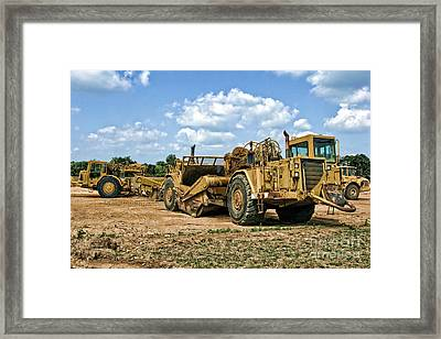 Tractor Scraper Framed Print by Olivier Le Queinec