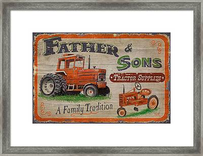Cultivated Framed Print featuring the painting Tractor Supplies by JQ Licensing