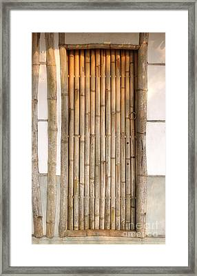 Traditional Chinese House With Bamboo Door Framed Print by Yali Shi