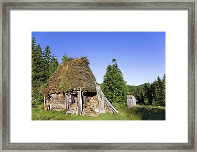 Traditional Farm House In The Apuseni Framed Print by Martin Zwick
