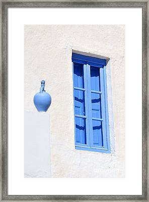 Traditional House In Serifos Town Framed Print by George Atsametakis