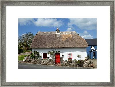 Traditional Thatched Cottage Framed Print by Panoramic Images