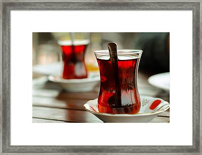 Traditional Turkish Tea Framed Print by Suzanne Morris