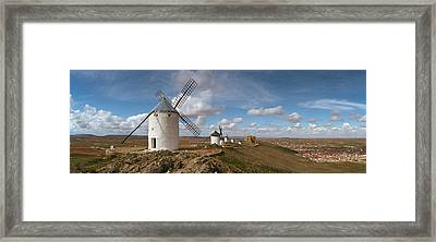 Traditional Windmill On A Hill Framed Print by Panoramic Images