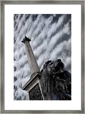 Trafalgar Square London Framed Print by Mark Rogan