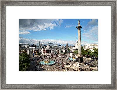 Trafalgar Square Framed Print by Mark Thomas