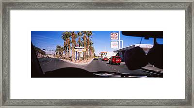 Traffic Entering Downtown, Las Vegas Framed Print by Panoramic Images