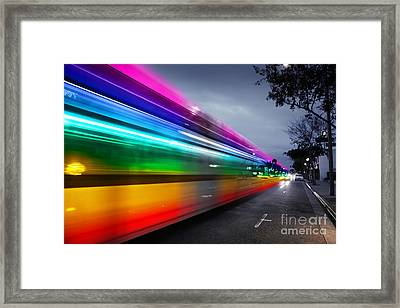 Traffic In Los Angeles Framed Print by Konstantin Sutyagin