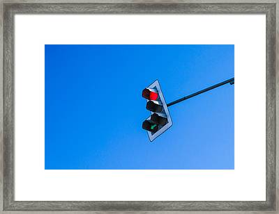 Traffic Light - Featured 3 Framed Print by Alexander Senin