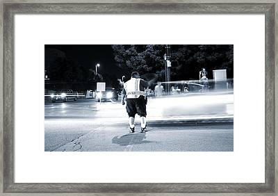 Traffic Officer Framed Print by Dan Sproul
