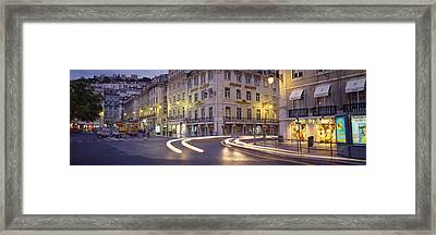 Traffic On A Road, Praca De Figueira Framed Print by Panoramic Images