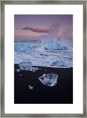 Trail Of Diamonds Framed Print by Evelina Kremsdorf