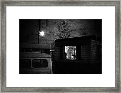 Trailer Home Framed Print by Donald  Erickson