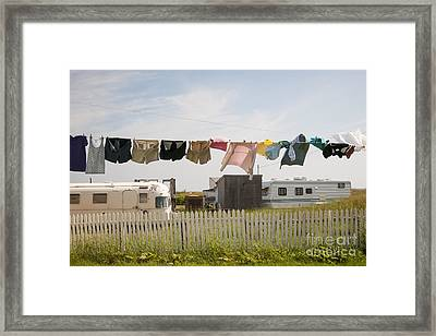 Trailers In North Rustico Framed Print by Elena Elisseeva