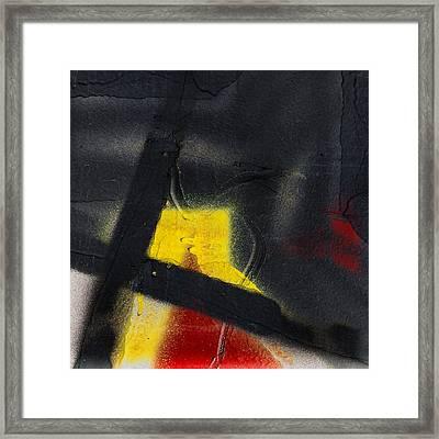 Train Art Abstract Framed Print by Carol Leigh