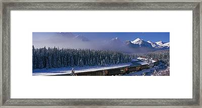 Train Banff National Park Alberta Canada Framed Print by Panoramic Images