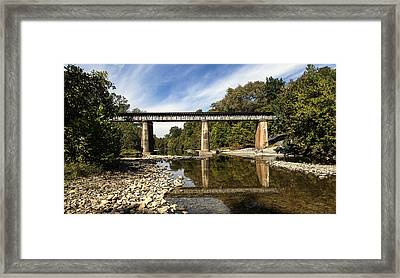 Train Crossing Framed Print by David Lester