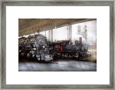 Train - Engine - 1218 - End Of The Line  Framed Print by Mike Savad