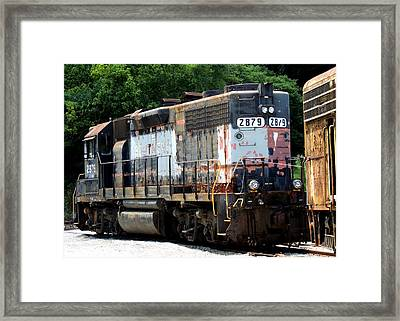 Train Engine #2879 Framed Print by Mark Moore