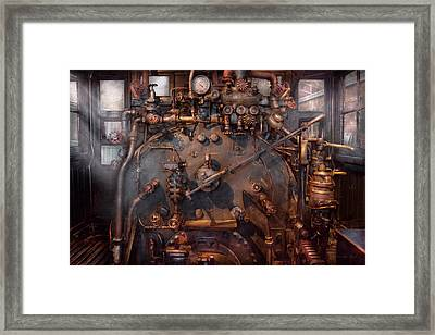 Train - Engine - Hot Under The Collar  Framed Print by Mike Savad