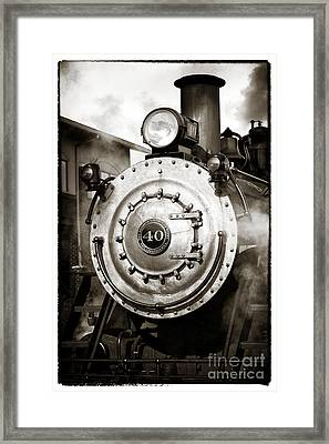 Train Face Framed Print by John Rizzuto