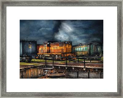 Train - Let's Go For A Spin Framed Print by Mike Savad